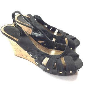 Attention | Strappy Cork Wedge Heels